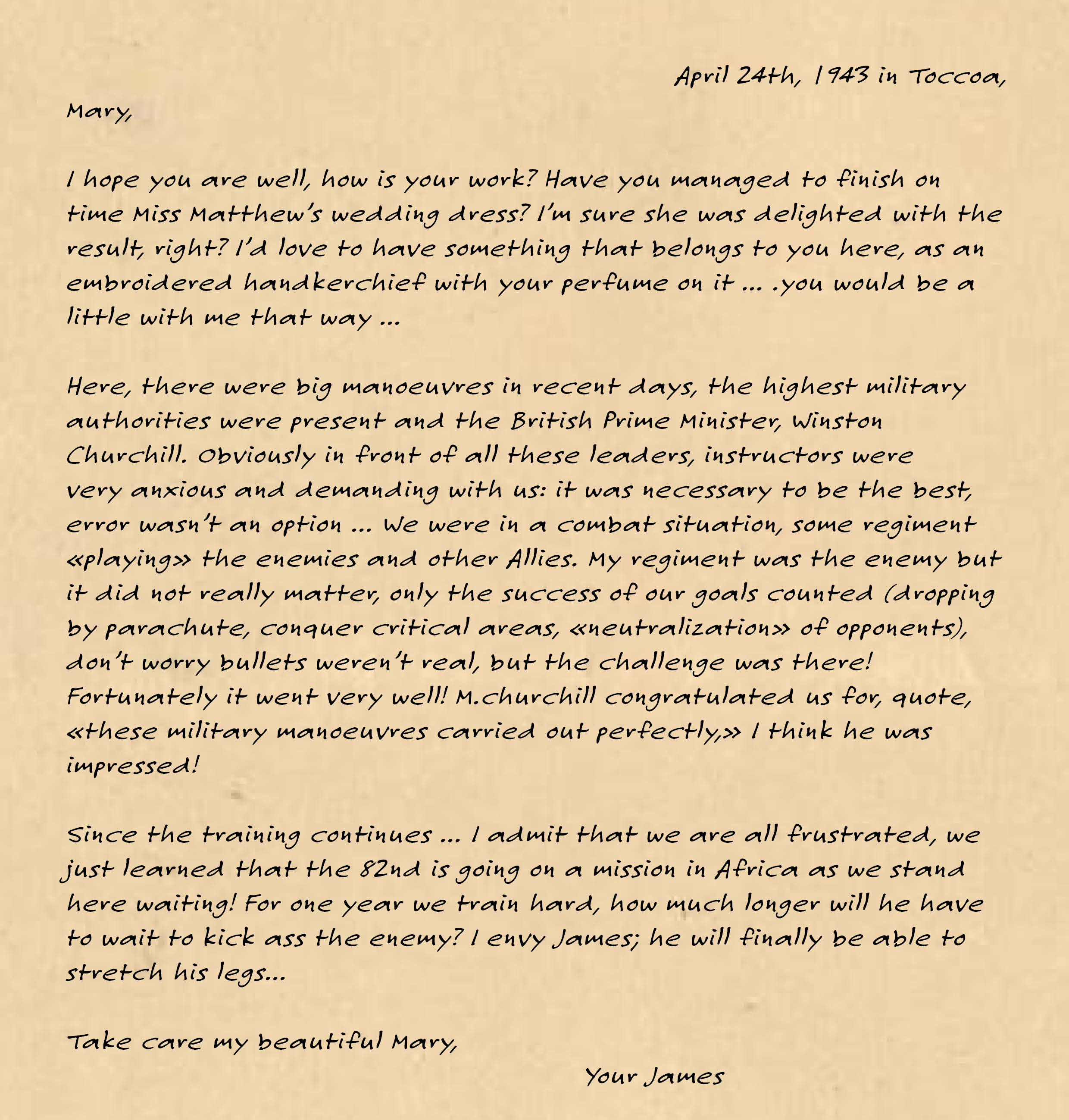 james' letter for mary